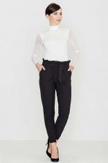 Wygodne i Praktyczne Czarne Spodnie Typu Pumpy