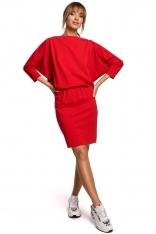 Sukienka Sportowa z Dekoltem V na Plecach - Czerwona