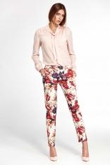 Kwiatowe Klasyczne Spodnie w Kwiecisty Deseń