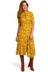 Rozkloszowana Sukienka z Dopasowaną Górą Model 1