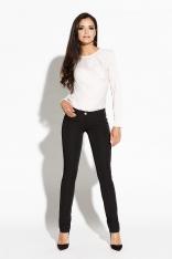 Czarne Spodnie Slim z Kieszeniami