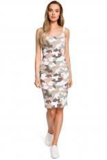 Sukienka MORO na Szerokich Ramiączkach Wzór 2