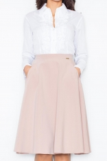 Biała Kobieca Koszula z Falbankami