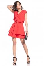Elegancka Sukienka w Szpic - Malinowa