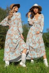 Maxi Sukienka z Kwiatowym Motywem