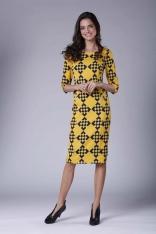 Stylowa Sukienka Ołówkowa z Ozdobnymi Guzikami