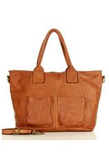Torebka Skórzana Shopper Bag Camel