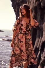 Sukienka midi w Kwiaty - Model 3