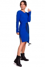 Chabrowa Casualowa Sukienka w Stylu Bluzy