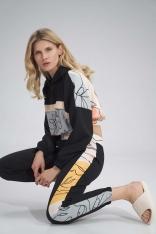 Sportowe Spodnie z Kolorowym Lampasem - Wzór 123