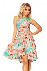 Elegancka Rozkloszowana Sukienka w Kwiaty