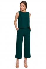 Spodnie 7/8 z Szerokimi Nogawkami - Zielone