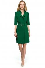 Zielona Elegancka Szmizjerka z Paskiem