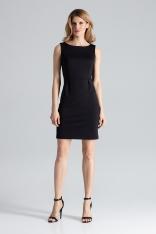 Czarna Modna Ołówkowa Sukienka Bez Rękawów