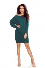 Zielona Całodzienna Sukienka z Bawełny