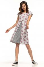 Trapezowa Sukienka z Dzianiny we Wzory