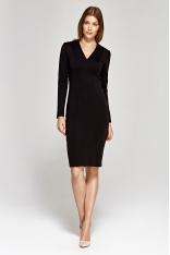 Elegancka Ołówkowa Sukienka - Czarna