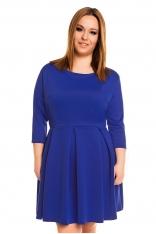 Chabrowa Minimalistyczna Rozkloszowana Sukienka PLUS SIZE