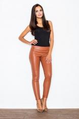 Spodnie ze Zwężanymi Nogawkami- Brązowe