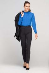 Czarne Eleganckie Spodnie z Podwyższonym Stanem