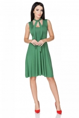 Zielona Sukienka Wiązana na Karku