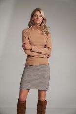 Trapezowa Mini Spódnica- w kratkę