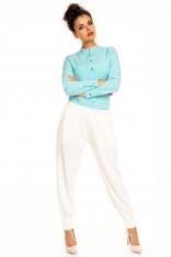 Ecru Eleganckie Spodnie Typu Pumpy