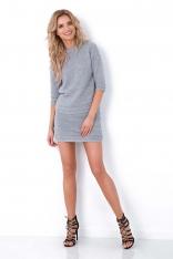 Ciemnoszary Dzianinowy Komplet Sweter i Mini Spódnica