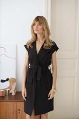 Sukienka do Samodzielnego Wiązania - Czarna