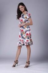 Uniwersalna Midi Sukienka z Małą Falbanką