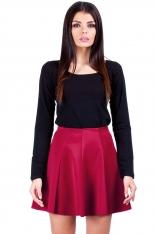 Czerwona Rozkloszowana Mini spódnica