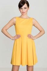 Żółta Sukienka w Szerokie Fałdy