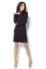 Sukienka z Wycięciem na Plecach - Czarna