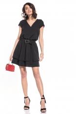 Elegancka Sukienka w Szpic - Czarna