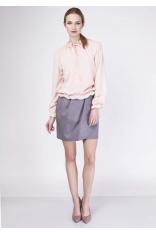 Różowa Subtelna i Romantyczna Bluzka Typu Bombka