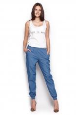 Spodnie Typu Pumpy - Niebieskie