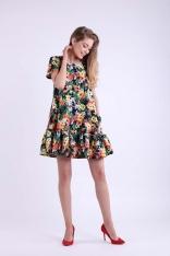 Kwiatowa Mini Sukienka w Romantycznym Stylu