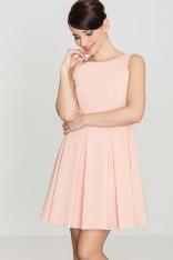 Różowa Sukienka w Szerokie Fałdy