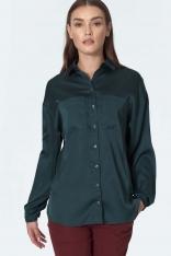 Elegancka Koszula z Kieszeniami - Zielona