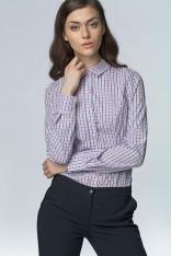Klasyczna Bawełniana Koszula w Różową Kratkę