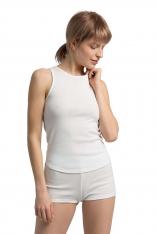 Bawełniana Koszulka Typu Top - Biała