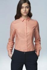 Łososiowa Klasyczna Bawełniana Koszula