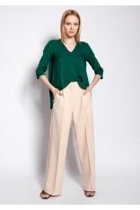 Asymetryczna Bluzka w Serek - Zielona