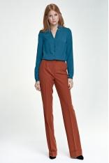 Rude Spodnie z Rozszerzanymi Nogawkami z Mankietem