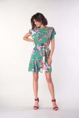 Dziewczęca Sukienka z  Kieszeniami - Zielona