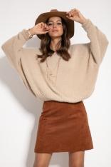 Milutki Sweter Oversize - Beżowy