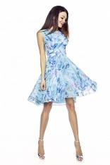 Zwiewna Letnia Sukienka we Wzory - Wzór 2