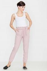 Wygodne i Praktyczne Różowe Spodnie Typu Pumpy