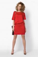 Uniwersalna Czerwona Sukienka z Kimonowym Rękawem