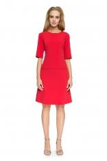 Czerwona Trapezowa Mini Spódnica